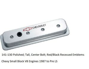 Proform 141 130 Polished Tall Center Bolt Red Black Recessed Emblems
