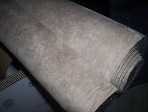 Suede Auto Headliner Upholstery Fabric Foam Back Sandtan 61 X 60 Free Shipping