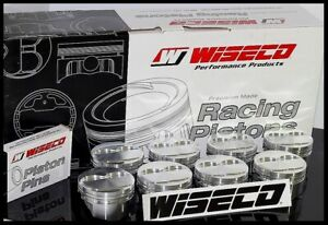 Sbc Chevy 421 Wiseco Forged Pistons Rings 4 155 5 5cc Dome Top Kp514a3