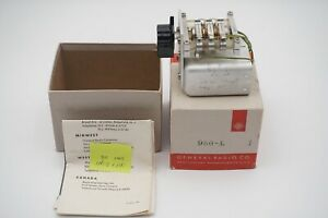 Vintage General Radio Co Decade Capacitor 980 l With Box And Instructions