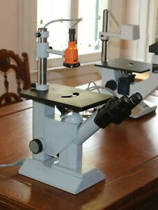 Zeiss Inverted Binocular Microscope 47 12 03 Made In West Germany