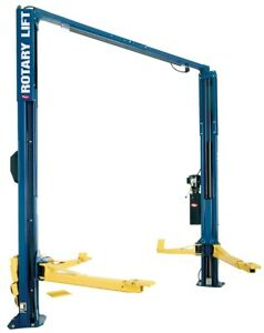 Rotary Lift 2 Post Asymmetrical Car Lift 10 000 Lb Capacity Blue Spoa10 Used