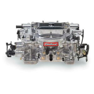 Edelbrock Carburetor 18259 650 Cfm 4 Barrel Vacuum Secondary Silver