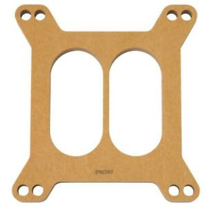 Edelbrock Carburetor Spacer 8722 Square Bore 500 Divided Wood Fiber Laminate