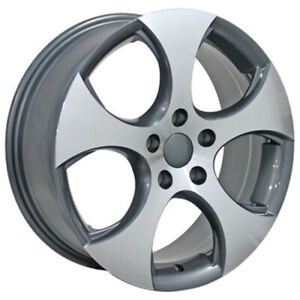 Gunmetal Wheel 17x7 W Machined Face For 2012 2014 Volkswagen Beetle Owh1302