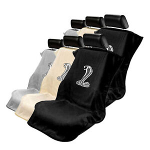 Seat Armour Set Of 2 Cloth Seat Cover Towels Fit For Ford Mustang Cobra Logo