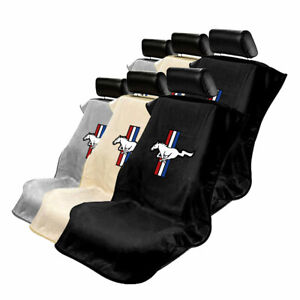 Seat Armour Set Of 2 Cloth Seat Cover Towels Fit For Ford Mustang Mustang Logo