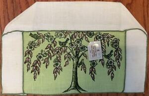 Vtg Nwt Imperial 100 Belgian Linen Long 4 Slice Tree Of Life Toaster Cover Cozy
