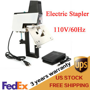 110v 106 Auto Electric Stapler Flat Saddle Book Binding Machine Pedal New
