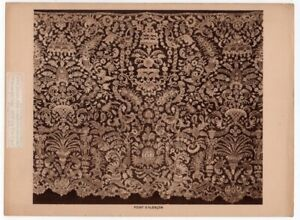 Point D Alencont French Queen Of Lace Pattern 1917 Photogravure Print