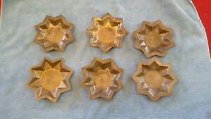 Lot Of 6 Antique Tin 8 Point Star Maple Candy Sugar Molds 1800 S Pastries Etc