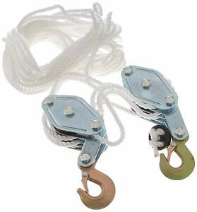 Heavy Duty Rope Pulley Block And Tackle Hoist For 2 Ton Working Load Capacity
