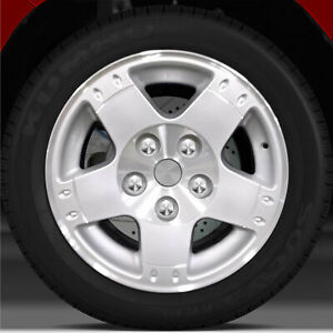 17x8 Factory Wheel Bright Sparkle Silver Machined For 2003 2005 Dodge Ram 1500