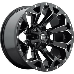20x10 Gloss Black Assault 5x5 5 5x150 18 Rims All Country Mt 35 Tires