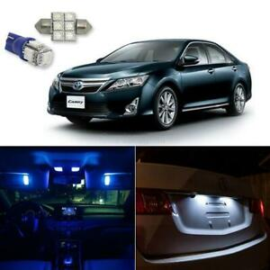 8x Blue Lights Led Interior Package Bulb W O Sunroof For 2007 2011 Toyota Camry