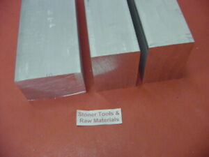 3 Pieces 2 1 2 X 4 Aluminum 6061 Flat Bar 9 Long T6511 Solid Plate Mill Stock