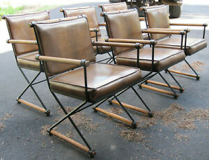 Mid Century Modern Dining Chairs Set Of 6 In The Manner Of Cleo Baldon 1970s