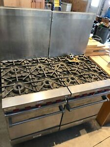 2 Vulcan Vg24 59 Natural Gas 4 Burner Range W oven In Excellent Used Condition
