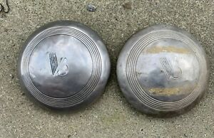 1940 1941 Ford V 8 Wheel Rim Hub Cap Hubcap Lot Of 2 Hubcaps