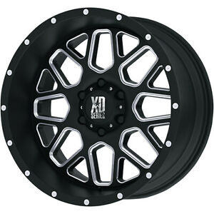 20x9 Black Milled Xd Xd820 8x6 5 0 Rims Toyo Open Country Rt 295 55 20 Tires