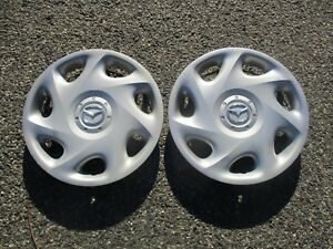 Lot Of 2 Genuine 2001 To 2003 Mazda Protoge 14 Inch Hubcaps Wheel Covers