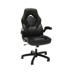 Ofm Essentials Racecar style Leather Computer Gaming Swivel Adjustable Chair