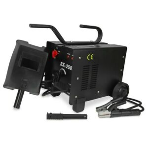 Arc Welder 110 220v Ac Welding Machine 250 Amp Wheel With Mask Accessories