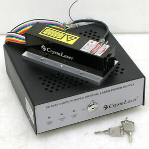 Crystalaser Lc 500mw Infrared Laser With Cl 2000 Controller Ircl 500 1320 Nm
