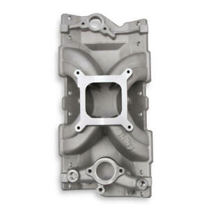 Holley Intake Manifold 300 255 Efi Split design Single Plane Satin For Chevy Ls