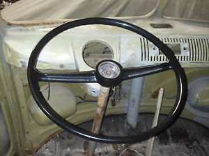 New Black Vw Volkswagen Transporter Type2 Bus T2 Kombi Van Stock Steering Wheel