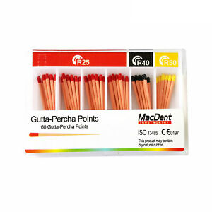 Macdent Dental Gutta Percha Points Tips Absorbent Paper R25 R40 R50 For Vdw