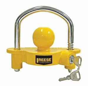 New Reese Towpower Universal Trailer Coupler Lock Towing Security Hitch Locks