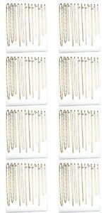 Eight 12 Hook White Chain Necklace Display Easels 12 X 15