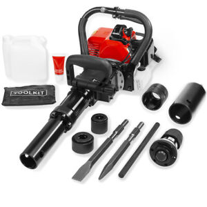 2in1 Demolition 32 7cc Gas Jack Hammer And Pile Piling Driver Chisel Bit Epa