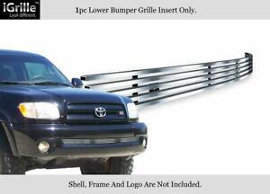 Fits 2003 2006 Toyota Tundra Lower Bumper Stainless Chrome Billet Grille Insert