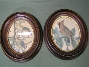 2 Vintage 1890s Victorian Oval Walnut Picture Frame