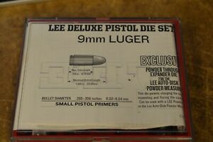 90963 Lee Precision Deluxe Carbide 4 Die Set for 9mm Luger # 90963