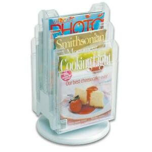 Ultimate Office 6 pocket Revolving Countertop Literature Display Clear
