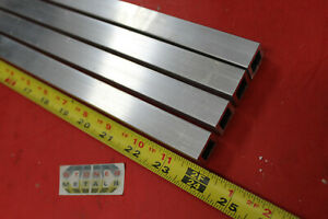 4 Pieces 3 4 x 3 4 x 1 8 Wall X 24 Long Aluminum Square Tube 6063 T52 5 Id