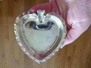 1893 Zimmerman Sterling Silver Heart Candy Bowl Dish Ashtray