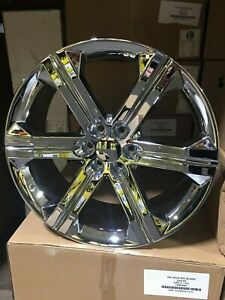 4 2018 Chevy Silverado Wheels Oe Replica 22x9 Chrome Yukon Denali Chevy Gmc
