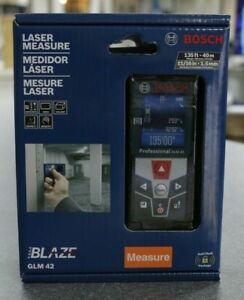 New Bosch Blaze Glm 42 135 Ft Laser Measure With Full color Display