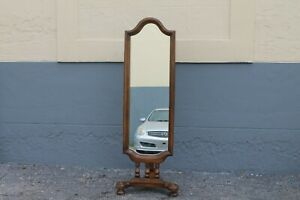 Traditional Style Tall Dressing Mirror Valet Vintage