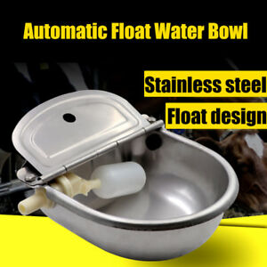 Automatic Stainless Steel Farm Water Bowl Float Valve Drinking Stock Horse