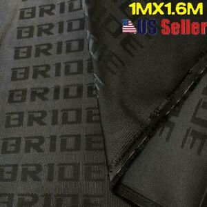 Black Bride Car Seat Fabric Cloth Racing Seats Cover Interior Decoration 1mx1 6m