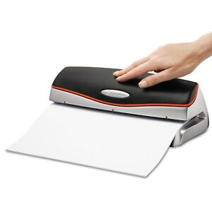 Swingline 20 sheet Optima Electric battery Three hole Punch 9 32 Inches Holes