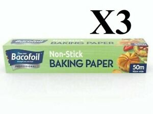 Baco Baking Paper 18 Roll 450mm 50mtr Cooking Baking Kitchen Catering X3