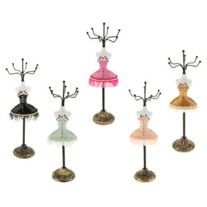 5pcs Jewelry Stand Rack Holder Jewelry Display Female Model Decor