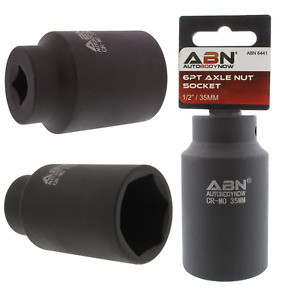 Abn Axle Nut Socket 35mm 1 2 Inch Drive 6 Point Universal For All Vehicle