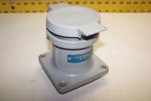 Crouse hinds 60 Amp 250 Vdc 600 Vac 4 Wire 4 Pole Arktite Receptacle Ar 641 T